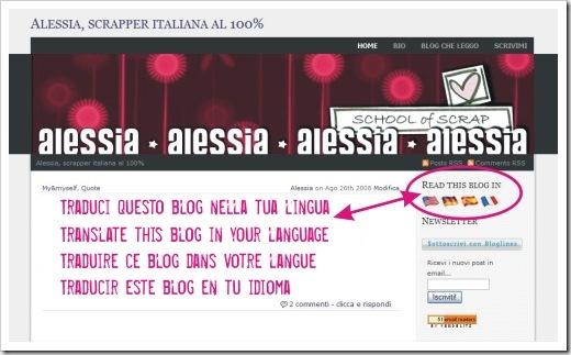 Blog poliglotta (the blog becomes multilingual)