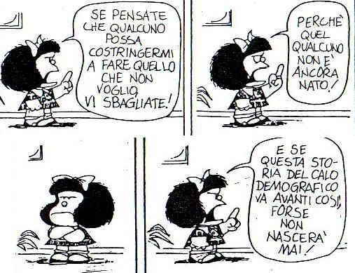 [quote] Mafalda, quel qualcuno non è ancora nato!