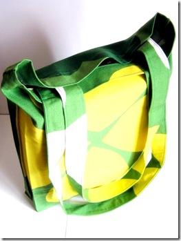 Shopper bianca-verde-gialla