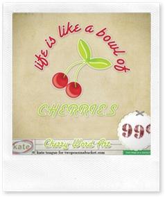 DigiKit - Cherry On Top Word Art By Katherine Teague