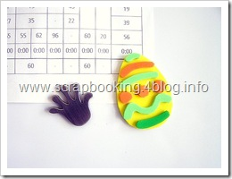 uova di Pasqua in moosgummi magnetiche per il frigo