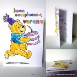 Bambini: una card di compleanno con Winnie the Pooh