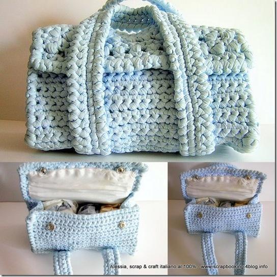 Borsetta vintage all'uncinetto – Handmade bag crochet
