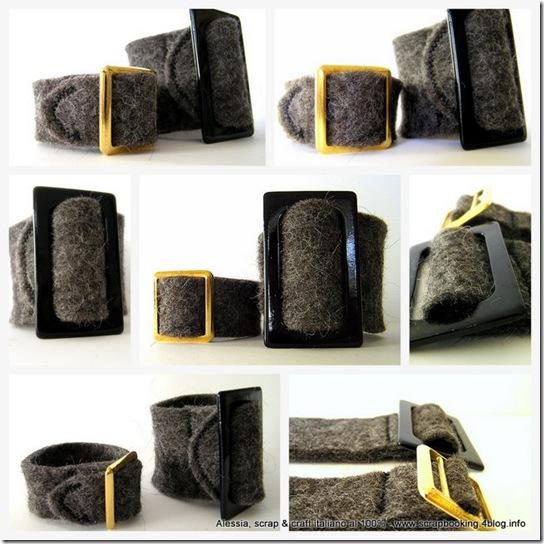 braccialetti in feltro fatto a mano - felt bracelet