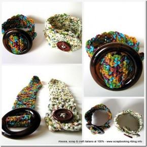 Ancora braccialetti, uncinetto, fibbie e bottoni - crocheted bracelets