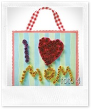 Woman's day - quadretto con la tecnica del quilling