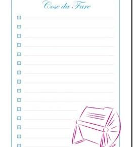 Un planning per organizzare lo scrapbooking