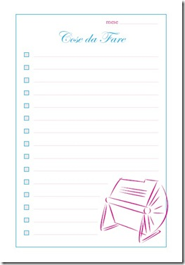planning per organizzare lo scrapbooking