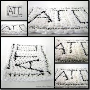 Ancora esperimenti all'uncinetto, ATC a crochet