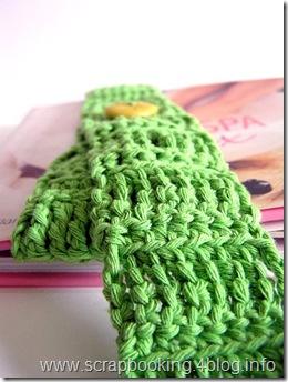 segnalibro a crochet - closeup