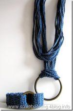 Parure cotone blu ed ottone, colori moda estate 2009