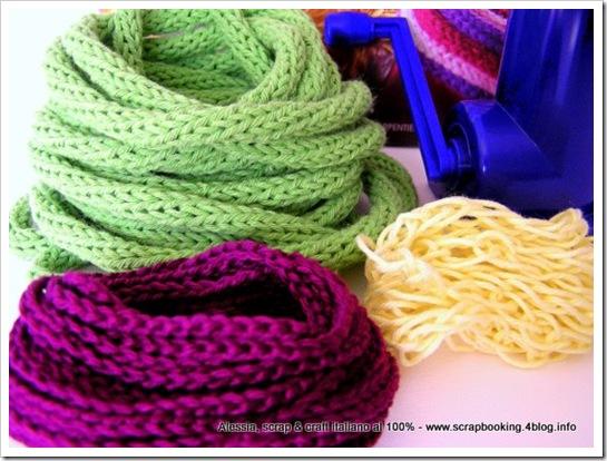 tricotin a manovella, esperimenti