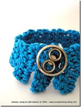 Tourquoise Tentacles crochet bracelet