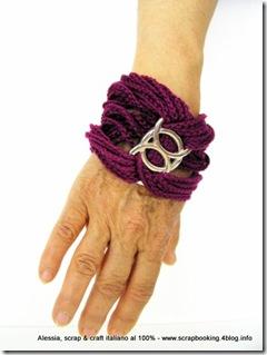 braccialetto all'uncinetto, purple chain
