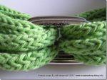 La prima collana con il tricotin è finita, verdino + vintage