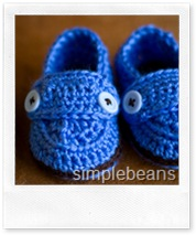 crochet baby shoes di simplebeans