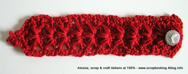 Punto Anemone A Crochet Un Braccialetto Tutto Rosso Alessia