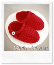 Crocheted Baby Booties di Martha Stewart