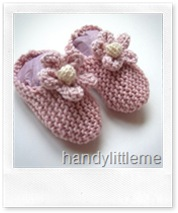 Pink Knitted Baby Slippers di handylittleme