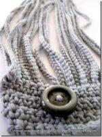 Uncinetto, braccialetto coordinato con il collier grigio perla