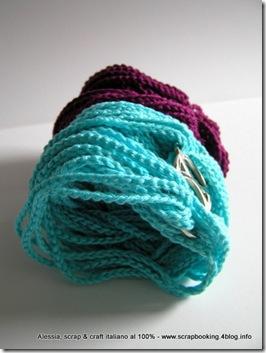 braccialetto a crochet, turquoise chain