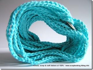 """Bracciali a crochet """"colored chain"""", ecco il """"turquoise chain"""""""