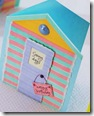 """La card a """"cabina da spiaggia"""" di Letraset"""