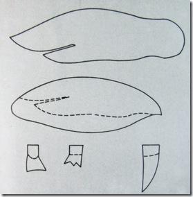 cartamodello per la presina a forma di pinguino (clicca per ingrandire)