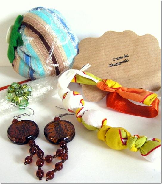tutti i regalini del mini swap prezioso che mi ha mandato Barbara del Bugigattolo