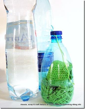 portagomitoli DIY riciclando le bottiglie di plastica