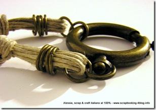 Vintage Brass Necklace, close-up