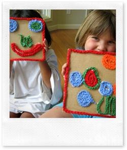 mosaico a crochet, uncinetto per bambini