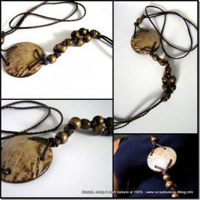 Ancora collane, gioielli in cuoio e perle di legno