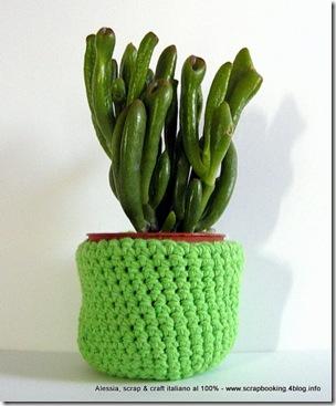 Un progetto veloce, velocissimo, il cachepot a crochet