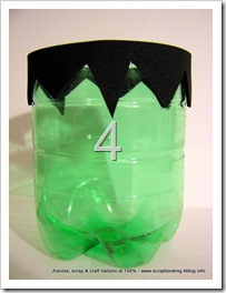 Halloween Candy Bowl riciclando le bottiglie in PET, Frankenstein