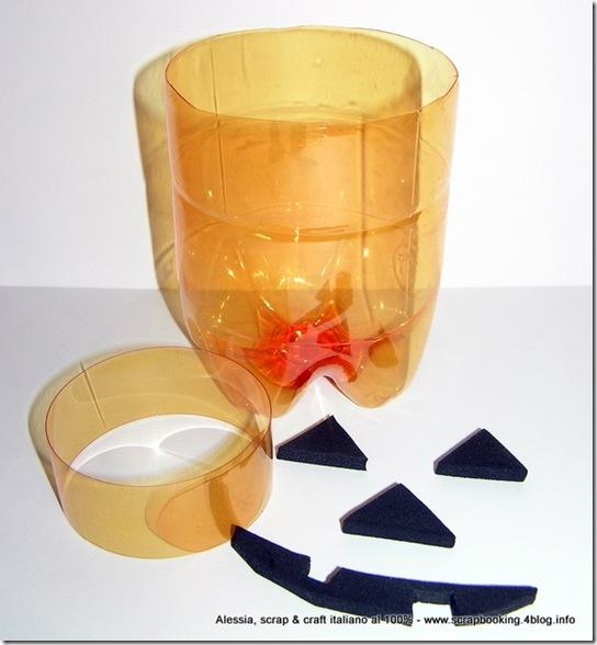 Halloween Candy Bowl riciclando bottiglie PET, la Zucca