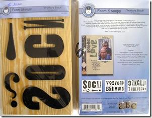 set foam stamps giganti - 6,00 euro cad. (3 pezzi)