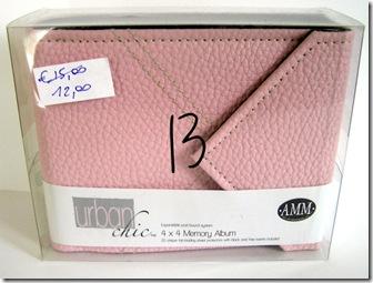album 4x4 inch AMM, serie urban chic rosa - euro 7,50 cad. (2 pezzi)