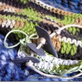 Alcuni lavori in corso: lana, seta, alpaca, cotone, sassi...