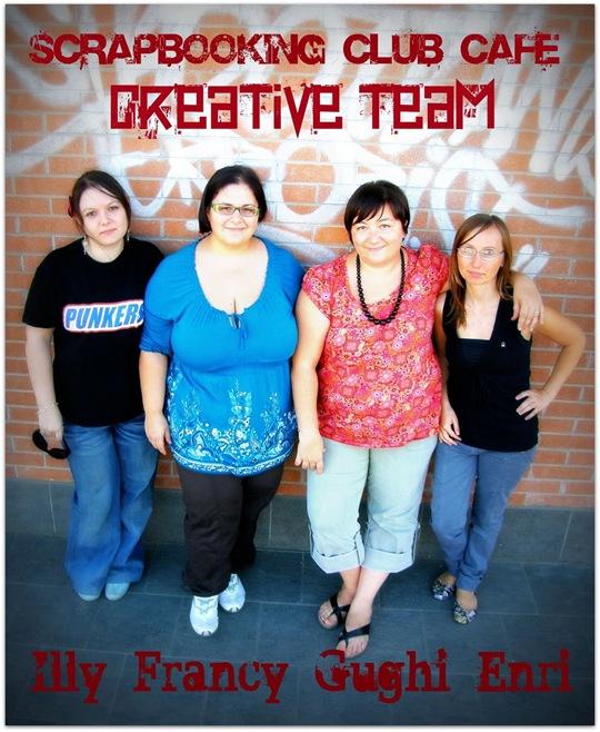 il Creative Team di SCC con la nuova nominata, la bravissima Illy