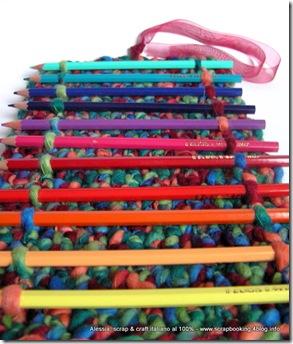 """Pencil Roll a crochet, insomma un """"porta-tutto"""" all'uncinetto"""