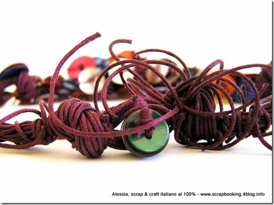 Purple and Colors Necklace, tantissimo colore, fili e madreperla per una collana