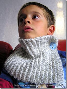 Neckwarmer per bambini a crochet