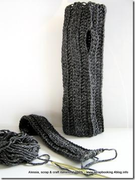 arm warmers a crochet in lana e seta