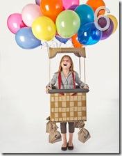 la mongolfiera a palloncini di Country Living