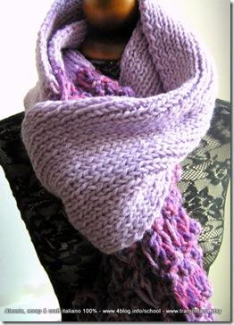 Lilla, big knitted scarf