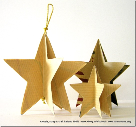 Lavoretti di natale le stelle eco chic craft christmas for Lavoretti di natale facili