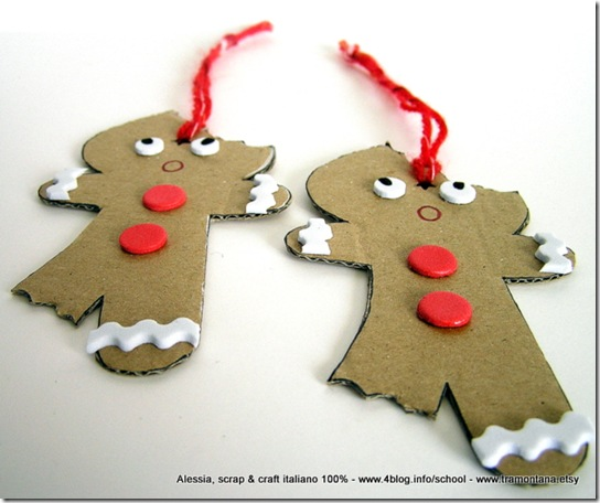 Lavoretti di Natale: gingerbread eco chic craft Christmas