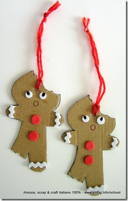 Lavoretti di Natale: gingerbread eco chic craft Christmas