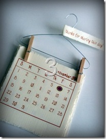DIY Mini 'Laundry' Calendar